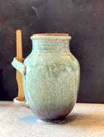Stoneware Olive Jar with Tongs