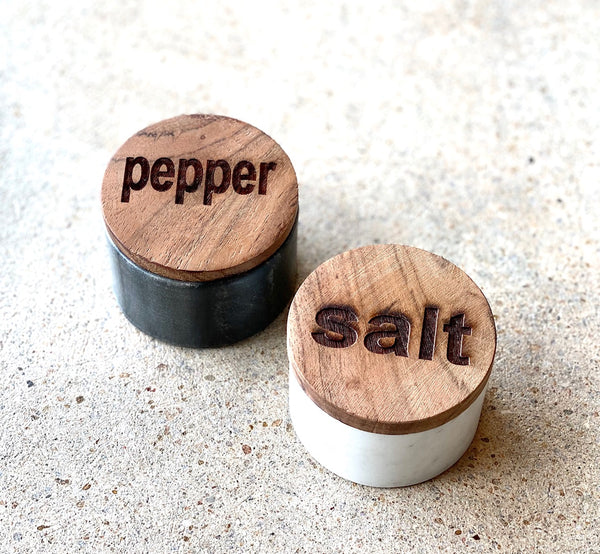 Marble Salt & Pepper Pot