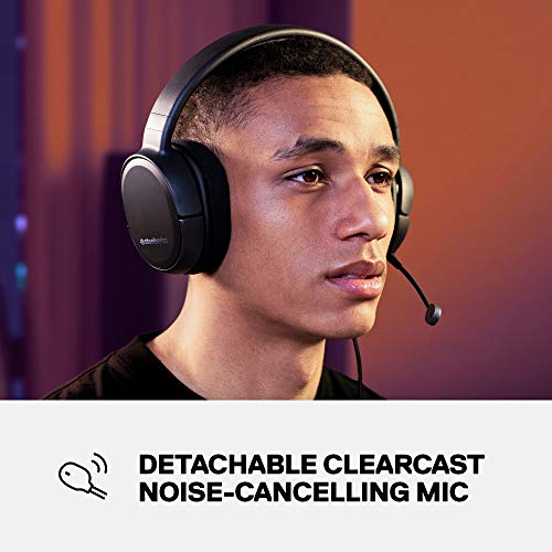 SteelSeries Arctis 1 Wired Gaming Headset - Detachable Clearcast Microphone - Lightweight Steel-Reinforced Headband - for PC, PS4, Xbox, Nintendo Switch and Lite, Mobile