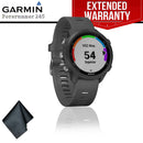 Garmin Forerunner 245 GPS Running Smartwatch (Slate Gray) + Extended Warranty + Cleaning Cloth