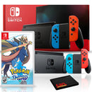 Nintendo Switch with Neon Blue and Red Joy-Con Bundle with Pokemon Sword