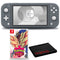 Nintendo Switch Lite (Gray) Bundle with Cleaning Cloth and Pokemon Shield