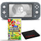 Nintendo Switch Lite (Gray) Bundle with Cleaning Cloth and New Super Mario Bros. U Deluxe