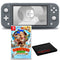 Nintendo Switch Lite (Gray) Bundle with Cleaning Cloth and Donkey Kong Country: Tropical Freeze