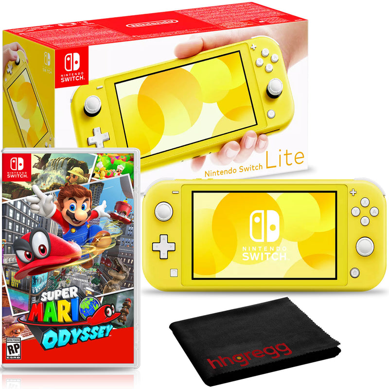 Nintendo Switch Lite (Yellow) Bundle with Super Mario Odyssey