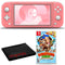 Nintendo Switch Lite (Coral) Bundle with Cleaning Cloth and Donkey Kong Country: Tropical Freeze
