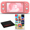 Nintendo Switch Lite (Coral) Bundle with Cleaning Cloth and Super Mario 3D All-Stars