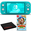 Nintendo Switch Lite (Turquoise) Bundle with Cleaning Cloth + Donkey Kong Country: Tropical Freeze