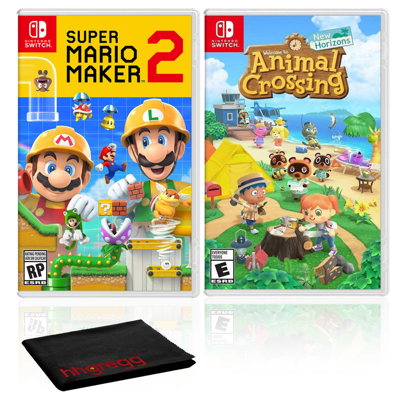 Super Mario Maker 2 + Animal Crossing: New Horizons - Two Game Bundle - Nintendo Switch