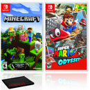 Minecraft + Super Mario Odyssey - Two Game Bundle - Nintendo Switch
