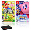 New Super Mario Bros. U Deluxe + Kirby Star Allies - Two Game Bundle - Nintendo Switch