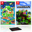 Yoshi's Crafted World + Minecraft - Two Game Bundle - Nintendo Switch