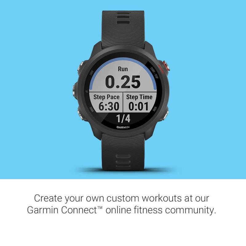 Garmin Forerunner 245 Music, GPS Running Smartwatch with Music and Advanced Dynamics, Black