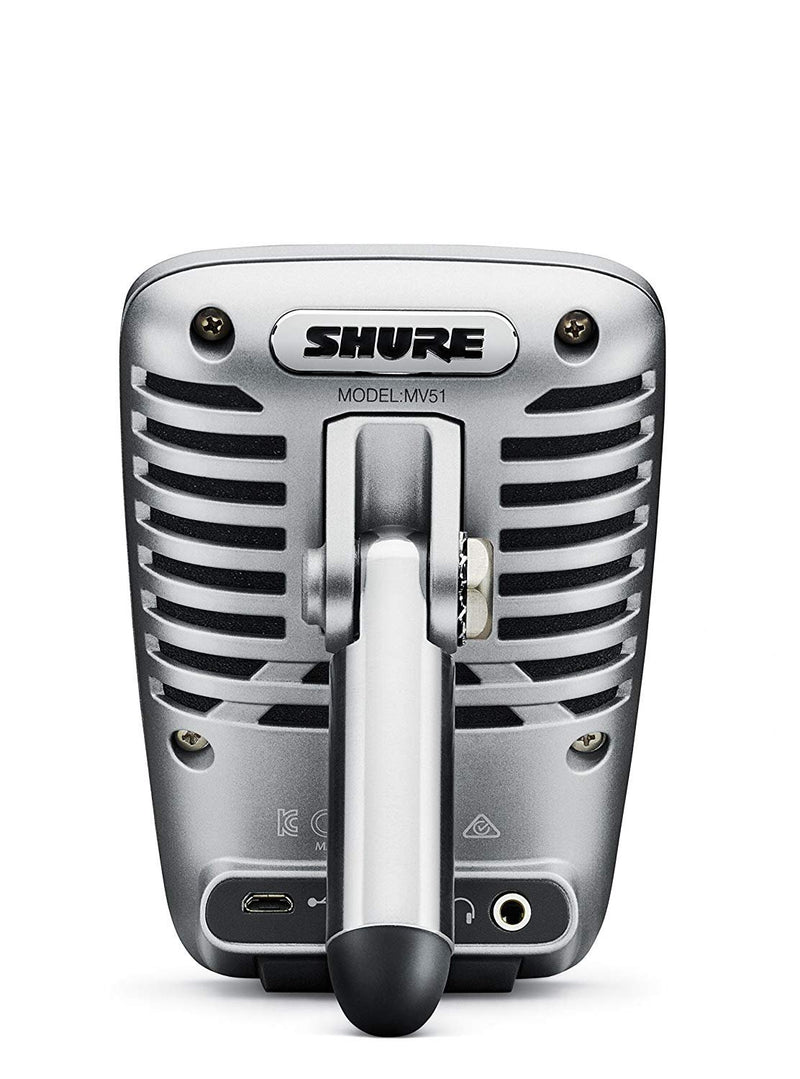 Shure MV51 Digital Large-Diaphragm Condenser Microphone + USB & Lightning Cable