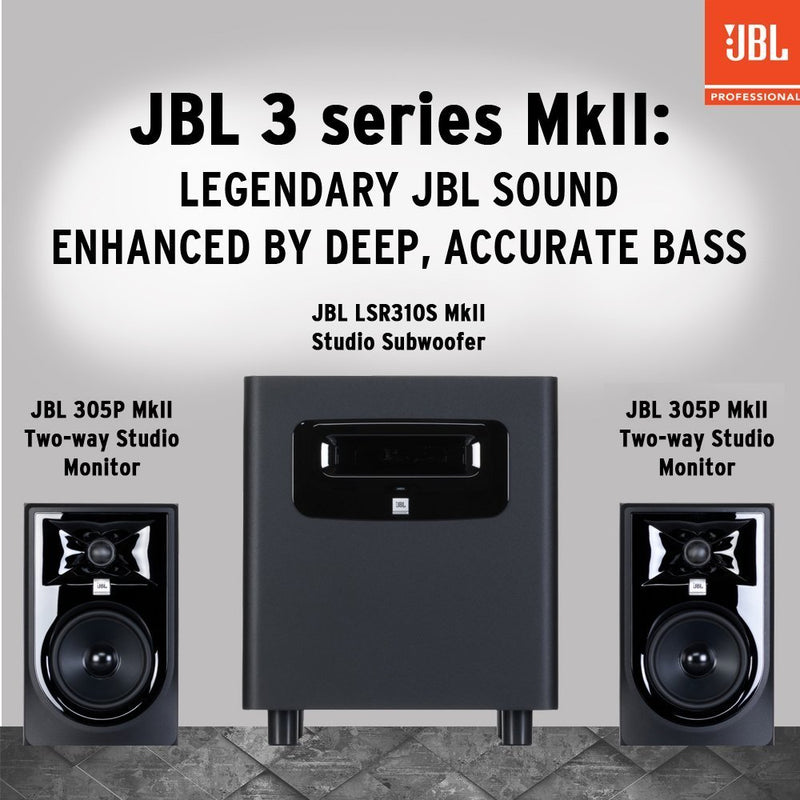 "JBL Professional 305P MkII 5"" 2-Way Powered Studio Monitor (new model) - 305PMKII"