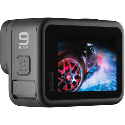 New GoPro HERO9 Black - Waterproof Action Camera with Front LCD and Touch Rear Screens, 5K Ultra HD Video, 20MP Photos, 1080p Live Streaming, Webcam, Stabilization