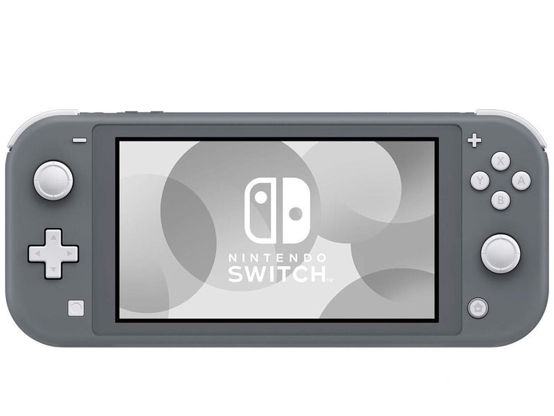 Nintendo Switch Lite (Gray) Bundle with Cleaning Cloth and Mario Tennis Aces