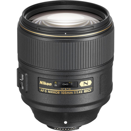 Nikon AF-S NIKKOR 105mm f/1.4E ED Lens (International Model)