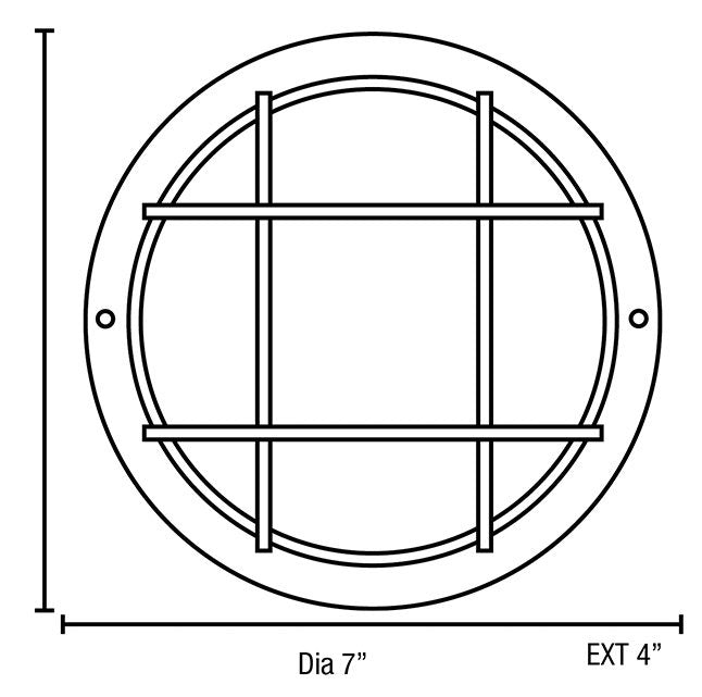 Access 20294 Nauticus 1-lt Outdoor Circular Bulkhead - Small