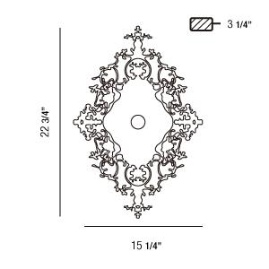 Eurofase 22982 Royal 1-lt Wall Sconce