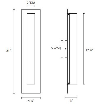 "Sonneman 2443 Tubo Slim 21""H LED Panel Sconce - Flat Trim"