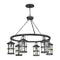"Hinkley 2689 Lakehouse Medium 6-lt 42"" Outdoor LED Chandelier"