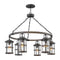 "Hinkley 2689 Lakehouse Medium 6-lt 42"" Outdoor Chandelier"