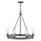 "Hinkley 29206 Sawyer Medium 6-lt 24"" Outdoor LED Single Tier Chandelier, 12V"
