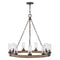 "Hinkley 29208 Sawyer Large 9-lt 30"" Outdoor LED Single Tier Chandelier, 12V"