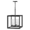 "Hinkley 29304-LV Rhodes Medium 4-lt 28"" Tall Outdoor LED Chandelier, 12V"