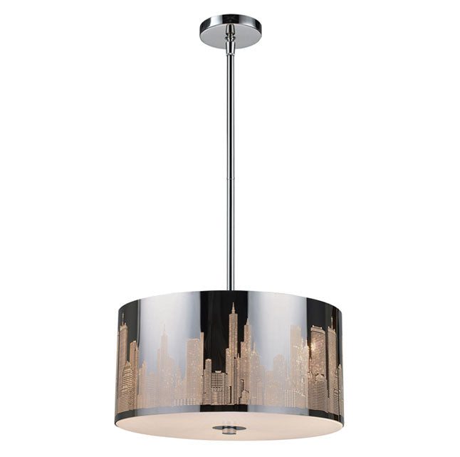 ELK 31038/3 Skyline 3-lt LED Chandelier