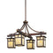 Kichler 49091CV Alameda 4-lt Outdoor Chandelier - LBC Lighting