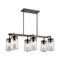 "Kichler 49835 Lyndon 6-lt 36.75"" Wide Outdoor Linear Chandelier - LBC Lighting"