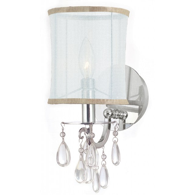 Hampton 1-light Wall Sconce w/Crystal Accents