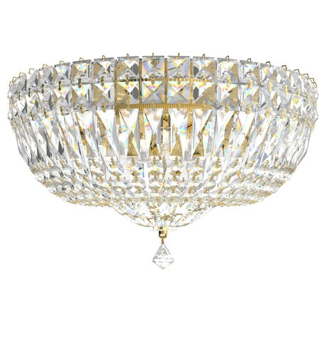5893 Petit Crystal Deluxe 6-lt Flush Mount
