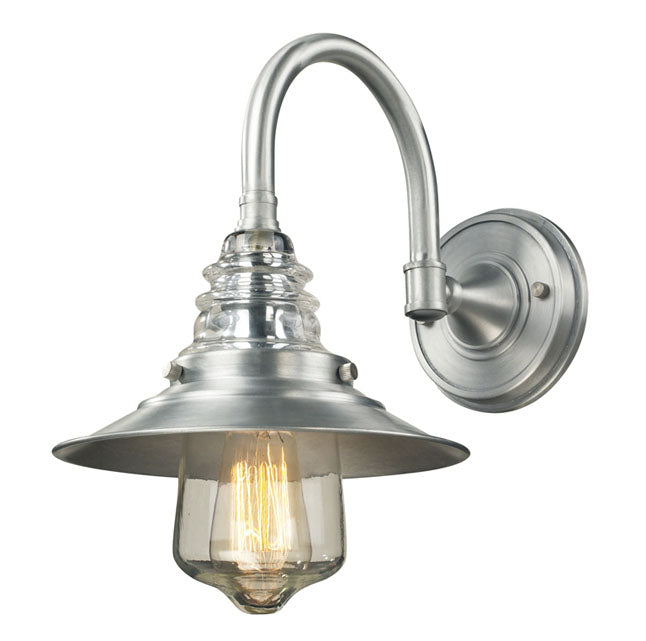 ELK 66702-1 Insulator Glass 1-lt Outdoor Wall Sconce