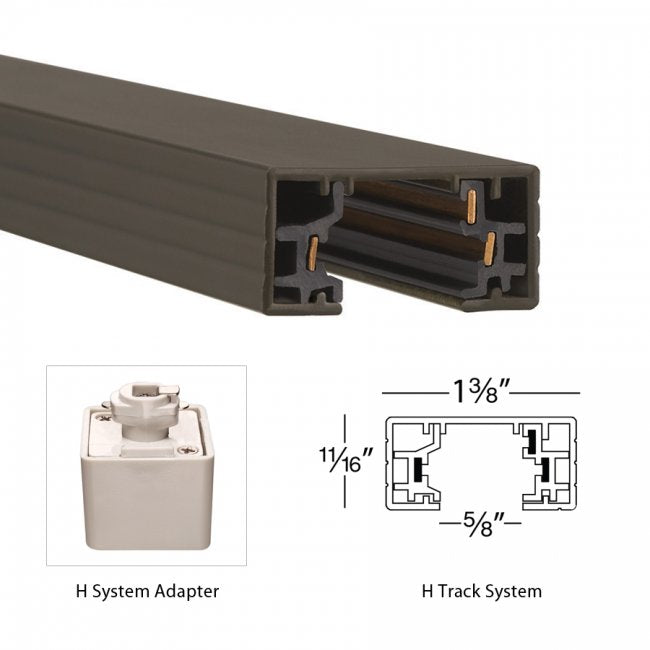WAC H System 2-ft Single Circuit Track