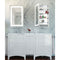 "Electric Mirror AMB-2330-LT Ambiance 23"" x 30"" LED Illuminated Mirrored Cabinet with Left Hand Door"