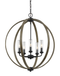 "Feiss OLF3294 Allier 5-lt 24"" Wide Outdoor Chandelier - LBC Lighting"