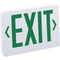 Nora NX-503 LED Exit Sign, AC Only - Green Letters, White Housing - LBC Lighting