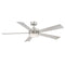 "Modern Forms FR-W1801-60L Wynd 60"" Ceiling Fan with LED Light Kit, 2700K"