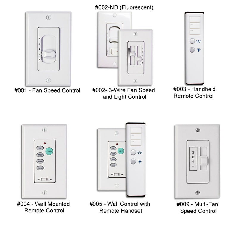 Modern Fan / Period Arts FC-005 Wall Control with Remote Handset