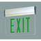 NX-812 LED Edge-Lit Exit Sign with Adjustable Housing, Battery Backup - Single Face, Green Letters