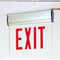 NX-812 LED Edge-Lit Exit Sign with Adjustable Housing, Battery Backup - Single Face, Red Letters