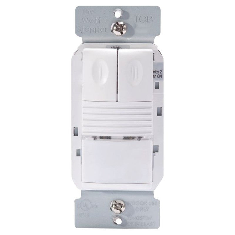 Wattstopper PW-302 Passive Infrared Dual Relay Wall Switch Occupancy Sensor - LBC Lighting