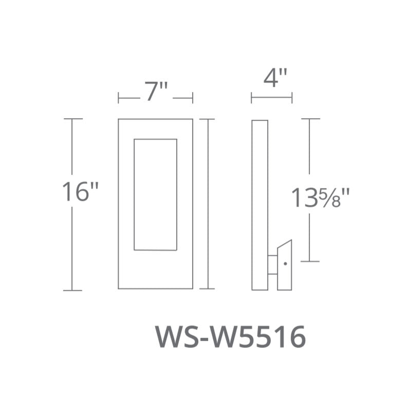 "Modern Forms WS-W5516 Twilight 16"" Tall LED Outdoor Wall Light"