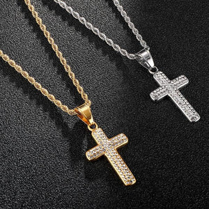ICY Cross pendant Necklace