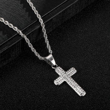 Load image into Gallery viewer, ICY Cross pendant Necklace