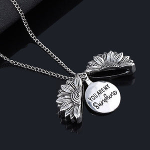''You Are My Sunshine'' Sunflower Necklace