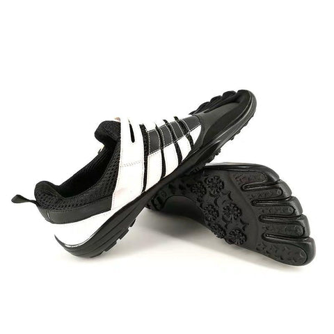 Best Five Finger Shoes Of 2021: Fashion Leather Five Toe Shoes Waterproof Five Fingers Running Shoes